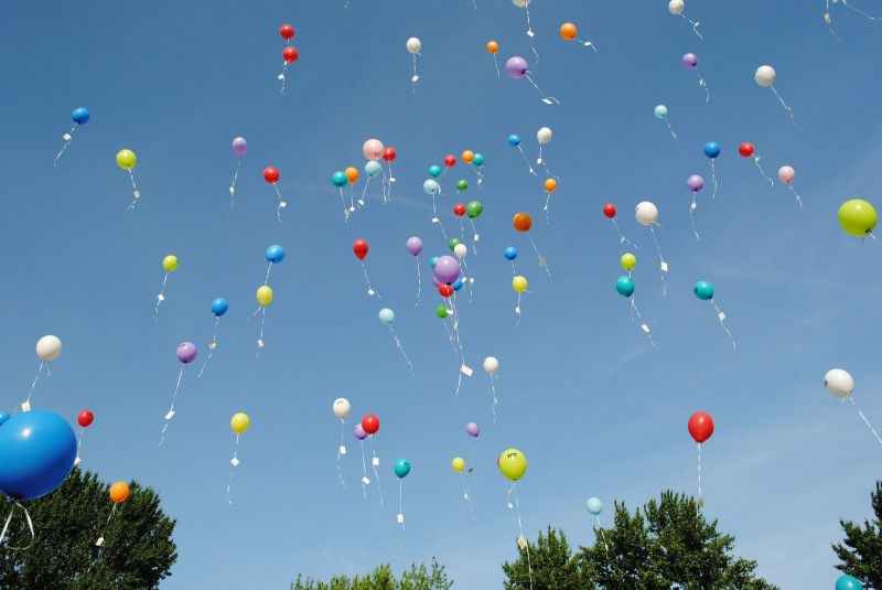 Flotte og festlige helium balloner